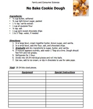 RECIPE: No Bake Cookie Dough