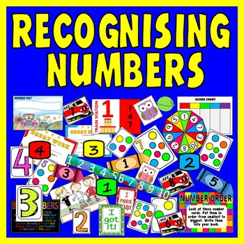 RECOGNISING NUMBERS 1-10 - NUMERACY MATHS KS1 GAMES FLASHCARDS ETC