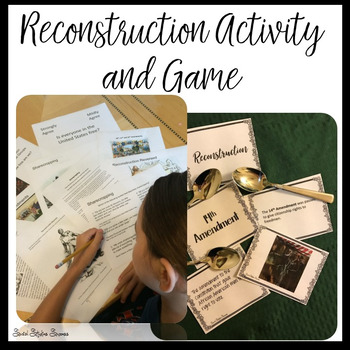 RECONSTRUCTION ACTIVITY AND GAME BUNDLE