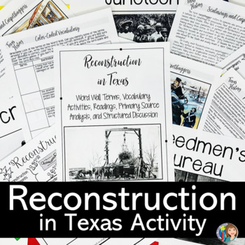 RECONSTRUCTION in Texas DOODLE NOTES and READINGS