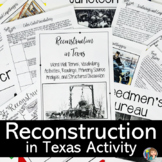RECONSTRUCTION in Texas DOODLE NOTES and READINGS for 7th Grade