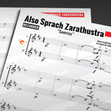 RECORDER SHEET MUSIC: Also sprach Zarathustra [Sunrise] Duet by Richard Strauss