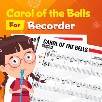 RECORDER SHEET MUSIC: Carol of the Bell - Duet [Christmas Music]