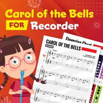 RECORDER SHEET MUSIC: Carol of the Bell - Duet [Christmas Music]