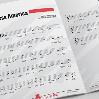RECORDER SHEET MUSIC: God Bless America by Irving Berlin [Patriotic Song]