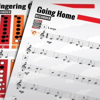 RECORDER SHEET MUSIC: Going Home - Symphony No. 9 (Dvořák)