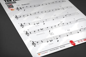 RECORDER SHEET MUSIC: The Entertainer - Scott Joplin [Ragtime]