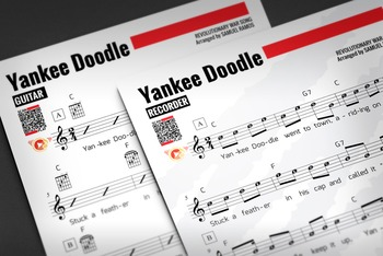 RECORDER SHEET MUSIC: Yankee Doodle w/ Performance Trax