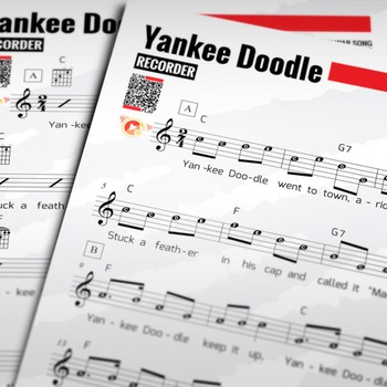Recorder Sheet Music Yankee Doodle W Performance Trax By Hardplayed