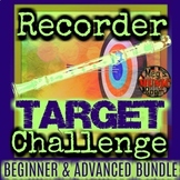 RECORDER TARGET CHALLENGE BUNDLE - Treble Clef/Fingering Game ELEMENTARY MUSIC