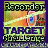 RECORDER TARGET CHALLENGE ADVANCED - Treble Clef/Fingering Game - ELEM MUSIC