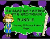 RECORDERS 24 Easy Recorder BAG Songs BUNDLE #1