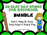 RECORDERS 24 Easy Recorder BAG Songs BUNDLE #2