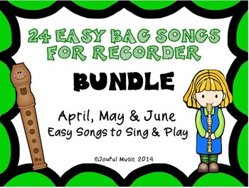 Distance Learning RECORDERS 24 Easy Recorder BAG Songs BUNDLE #2