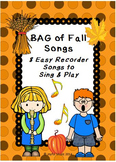 RECORDERS BAG of Fall Songs