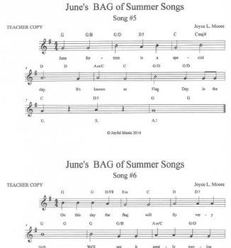 RECORDERS June's BAG of Summer Songs