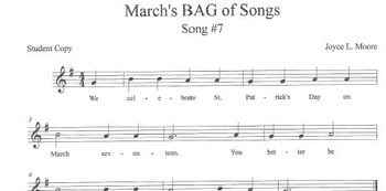RECORDERS March's BAG of Songs