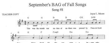 RECORDERS September's BAG of Fall Songs