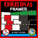 CHRISTMAS CLIPART FRAMES AND BORDERS (RECTANGLE SHAPE)
