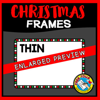 CHRISTMAS CLIPART FRAMES AND BORDERS (RECTANGLE SHAPE)