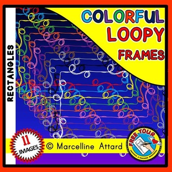 LOOPY CLIPART FRAMES: RECTANGLE FRAMES CLIPART: LOOPY BORDERS: LOOPY FRAMES