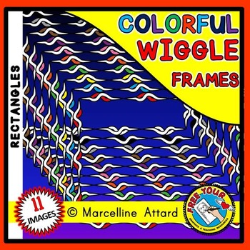 WIGGLE RECTANGLE FRAMES AND BORDERS CLIPART