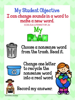 Nonsense Words for Earth Day - Recycle