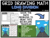 RECYCLING TRASHCAN Grid Drawing Math Puzzle LONG DIVISION WITH REMAINDERS