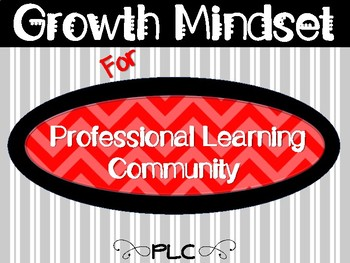 RED & BLACK ~ Growth Mindset For Professional Learning Community Posters