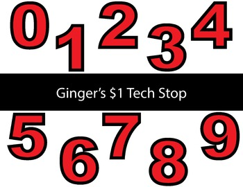 RED! * Bulletin Board Letters * Numbers * 0123456789