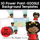 RED Editable PowerPoint & Google Slides Templates -Persona