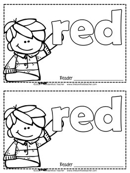 Colors {RED} Emergent Reader & Class Poster