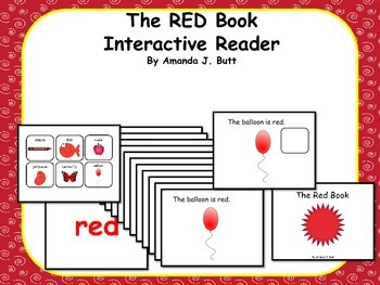 RED Interactive Color Sight Word Reader; Kindergaten; Autism;