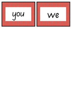 RED LEVEL FLASH CARDS - FREEBIE - FIRST 100