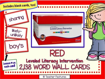 Leveled Literacy Intervention RED (1st Edition)