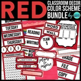 RED Classroom Decor EDITABLE