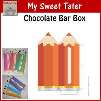 RED-ORANGE Pencil Candy Bar Envelope