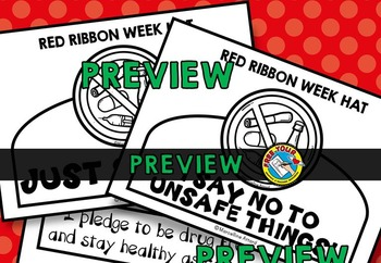 RED RIBBON WEEK CRAFT: RED RIBBON WEEK HAT TEMPLATES