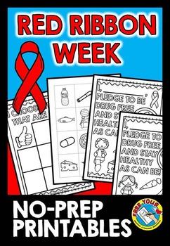 RED RIBBON WEEK PRINTABLES (RED RIBBON WEEK ACTIVITIES KINDERGARTEN +)