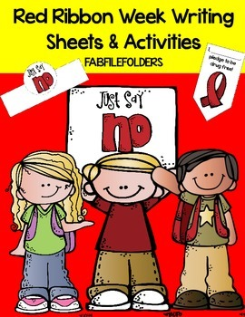 RED RIBBON WEEK WRITING SHEETS & ACTIVITIES