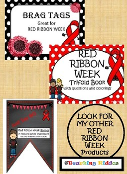 RED RIBBON - pledge and coloring page