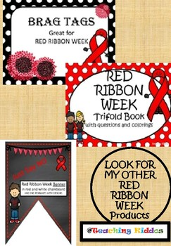 RED RIBBON week - coloring pages