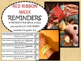 RED RIBBON week- reminder bracelets and tags  PTA / PTO