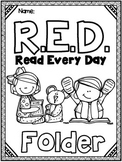 Take Home Reading (EDITABLE) - RED (Read Every Day) Folder and Reading Log
