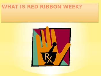 RED Ribbon Lesson: DRUG FREE.....That's Me!