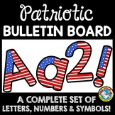 RED WHITE AND BLUE CLASSROOM THEME PATRIOTIC BULLETIN BOARD LETTERS PRINTABLE
