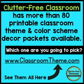 RED, WHITE and BLUE Classroom Decor EDITABLE