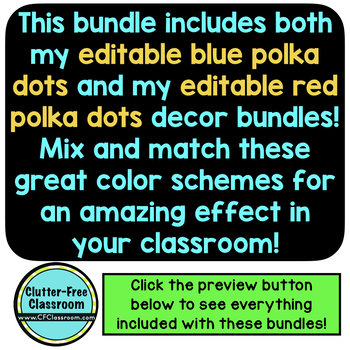 RED, WHITE and BLUE Classroom Decor Bundle EDITABLE