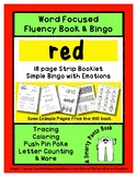 RED - Word Fluency Book & Emotion Bingo - Sight Word Focus
