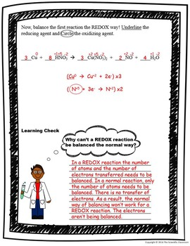 REDOX:Oxidation and Reduction Guided Notes Packet